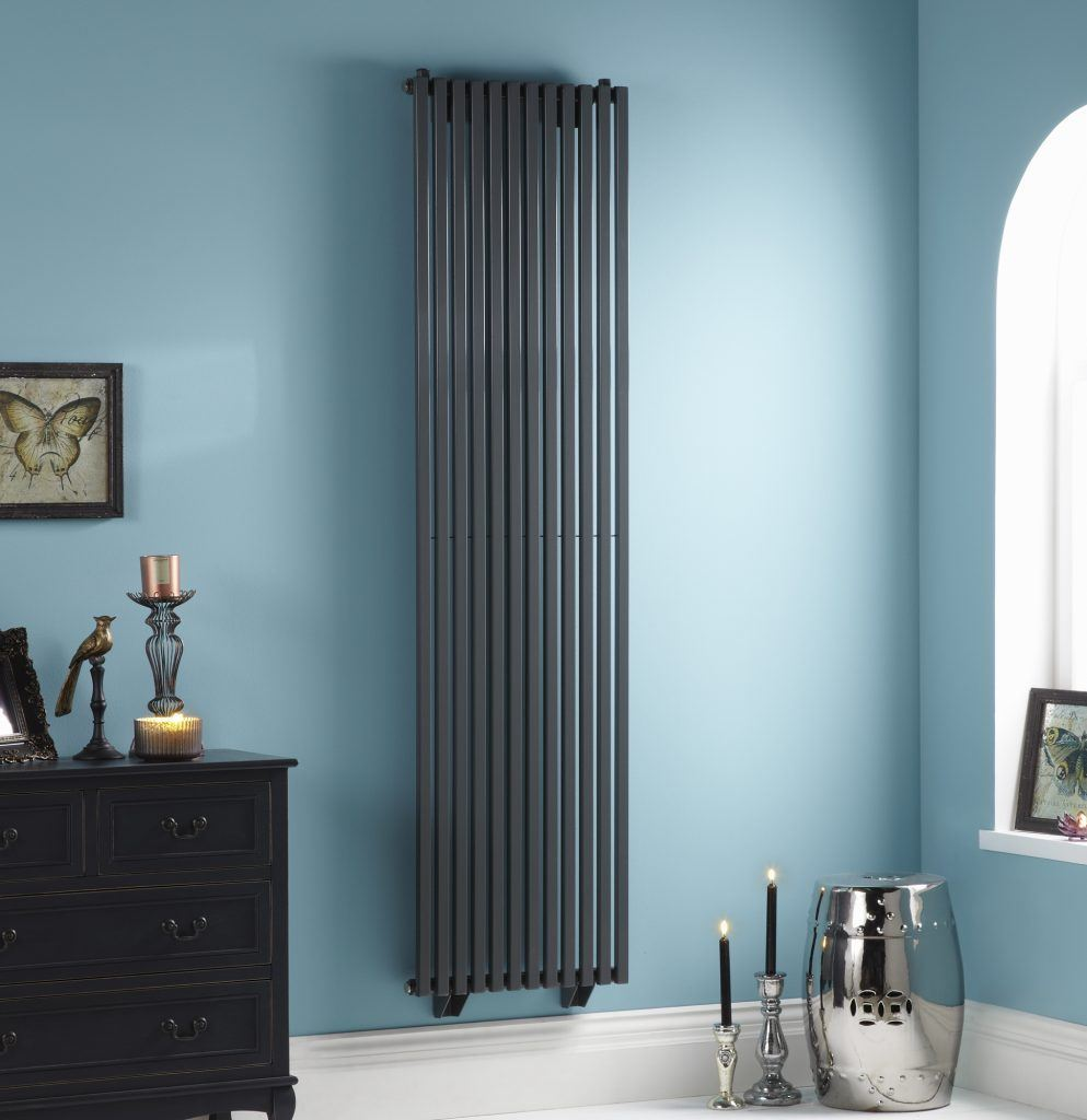 HeatQuick Aspen Anthracite Vertical Designer Radiator | High BTU Output Radiator