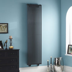 Towelrads Oxfordshire Anthracite Vertical Designer Radiator | High BTU Output Radiator