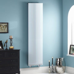 HeatQuick Aspen White Vertical Designer Radiator | High BTU Output Radiator