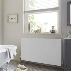 HeatQuick Horizontal White Glass Designer Radiator