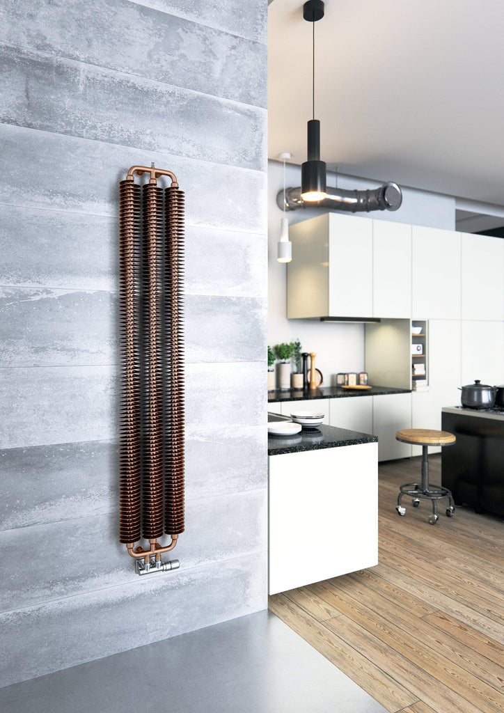 Terma Ribbon Vertical Designer Radiator (Copper | Heban | Metallic Black)