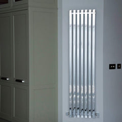 HeatQuick Raven Vertical Chrome Designer Radiator | High BTU Output Radiator