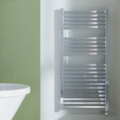 Square Designer Electric Thermostatic Towel Rail