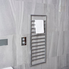 HeatQuick Ash Chrome Designer Towel Rail | Ladder Style Bathroom Radiator