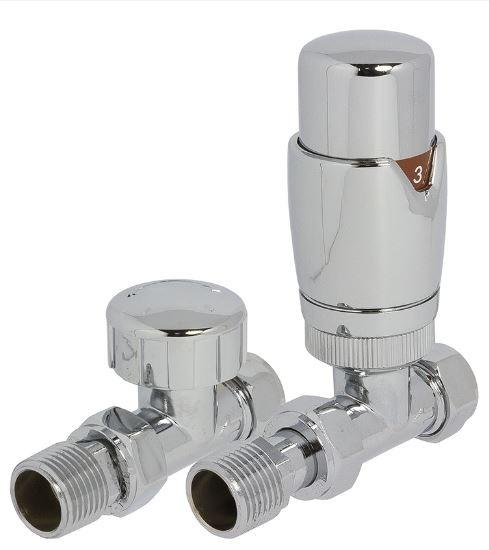 HeatQuick Round Thermostatic Radiator Valves - TRV and Lockshield