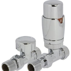 Heating Style Round Thermostatic Radiator Valves - TRV and Lockshield