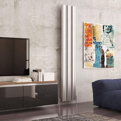 Carisa Wave Aluminium Vertical Designer Radiator | Living Room Radiator