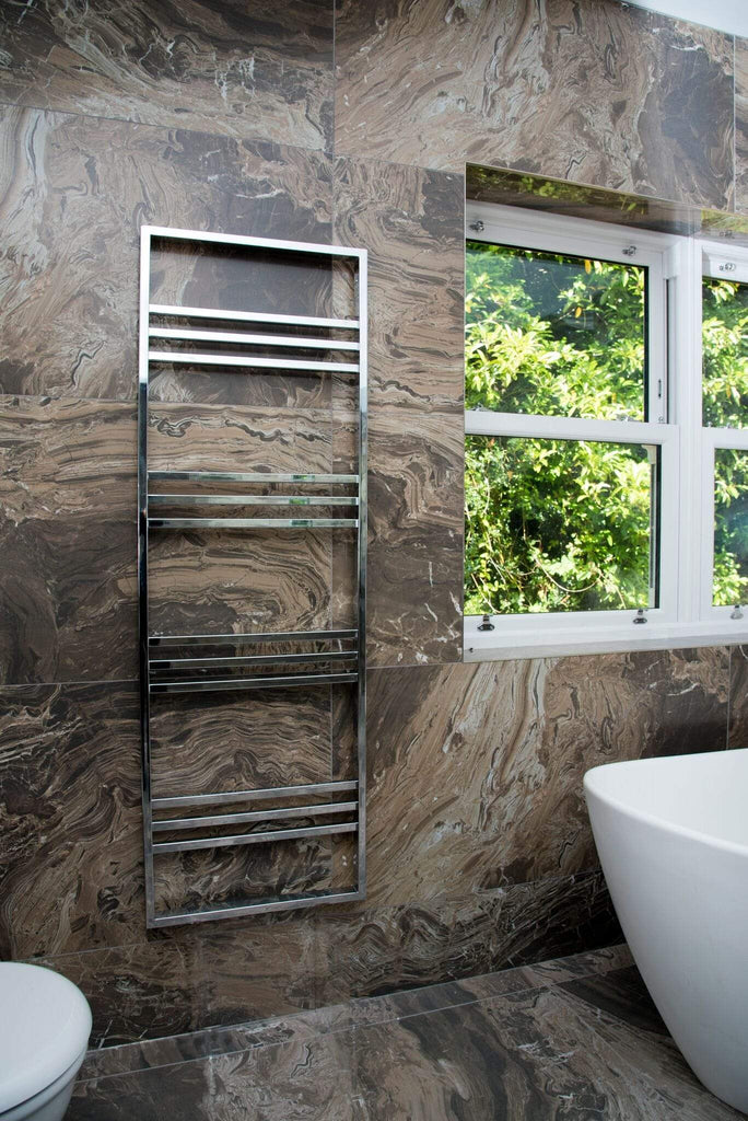 HeatQuick Nova Chrome Designer Towel Rail | Ladder Style Bathroom Radiator