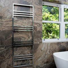 Boxford Chrome Designer Towel Rail | Ladder Style Bathroom Radiator
