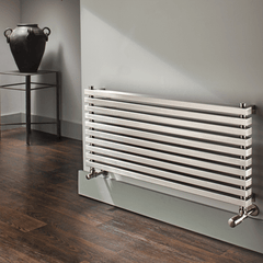 Accuro Korle Cadence Horizontal Stainless Steel Radiator High Heat Output High Quality Efficient Stylish Modern Contemporary Design