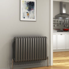 DQ Cassius Column Anthracite Horizontal Radiator