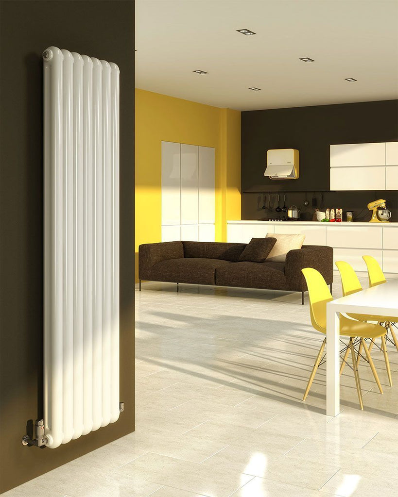 DQ Cassius Column White Vertical Radiator