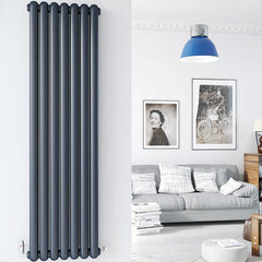 DQ Cassius Column Anthracite Vertical Radiator