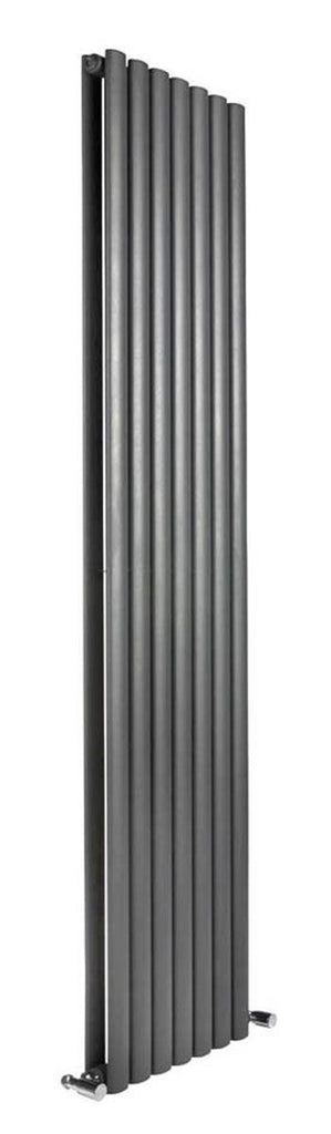 DQ Cove Single Anthracite Vertical Radiator
