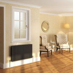 DQ Cove Single Anthracite Horizontal Radiator