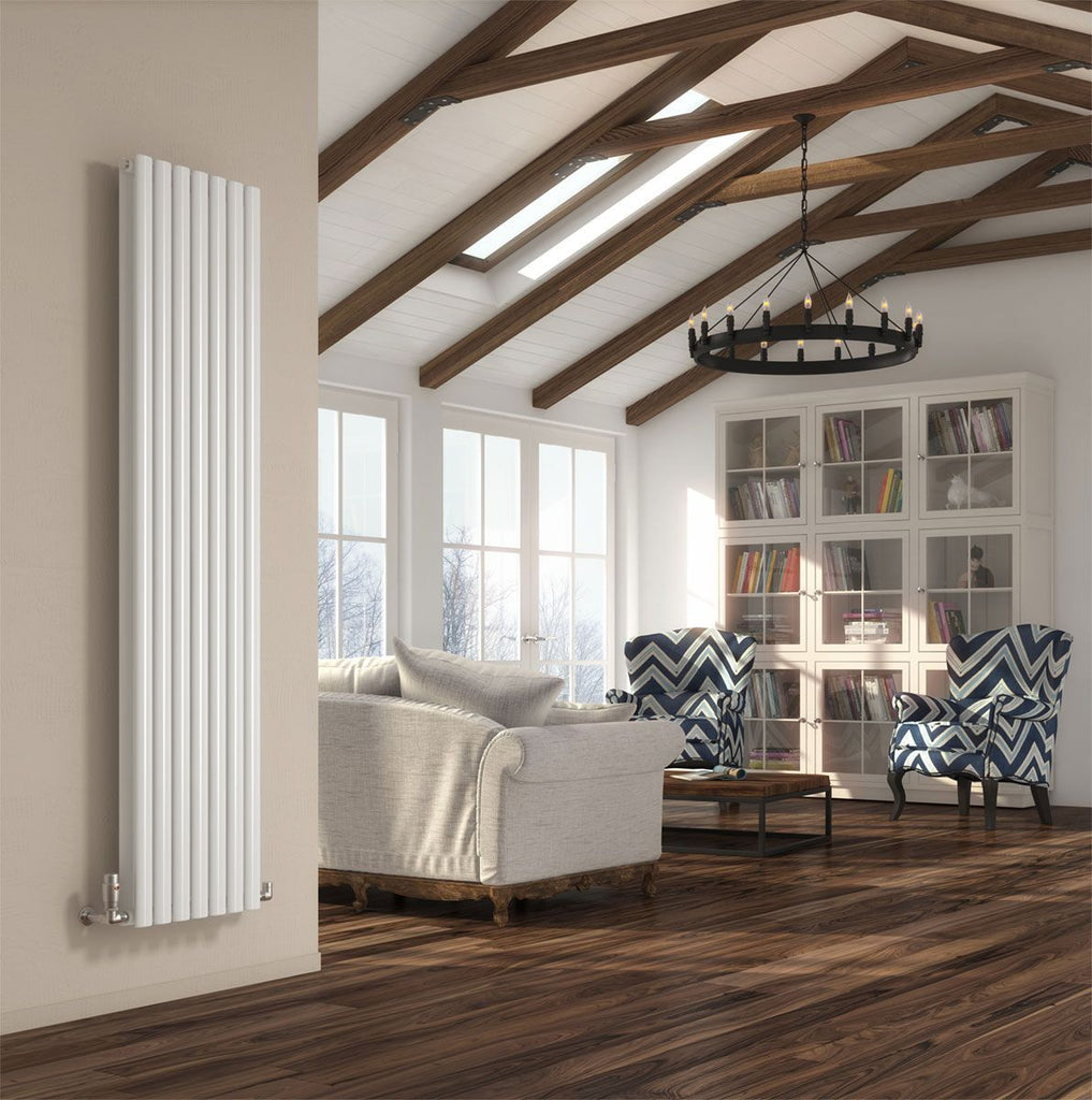 DQ Cove Double White Vertical Radiator