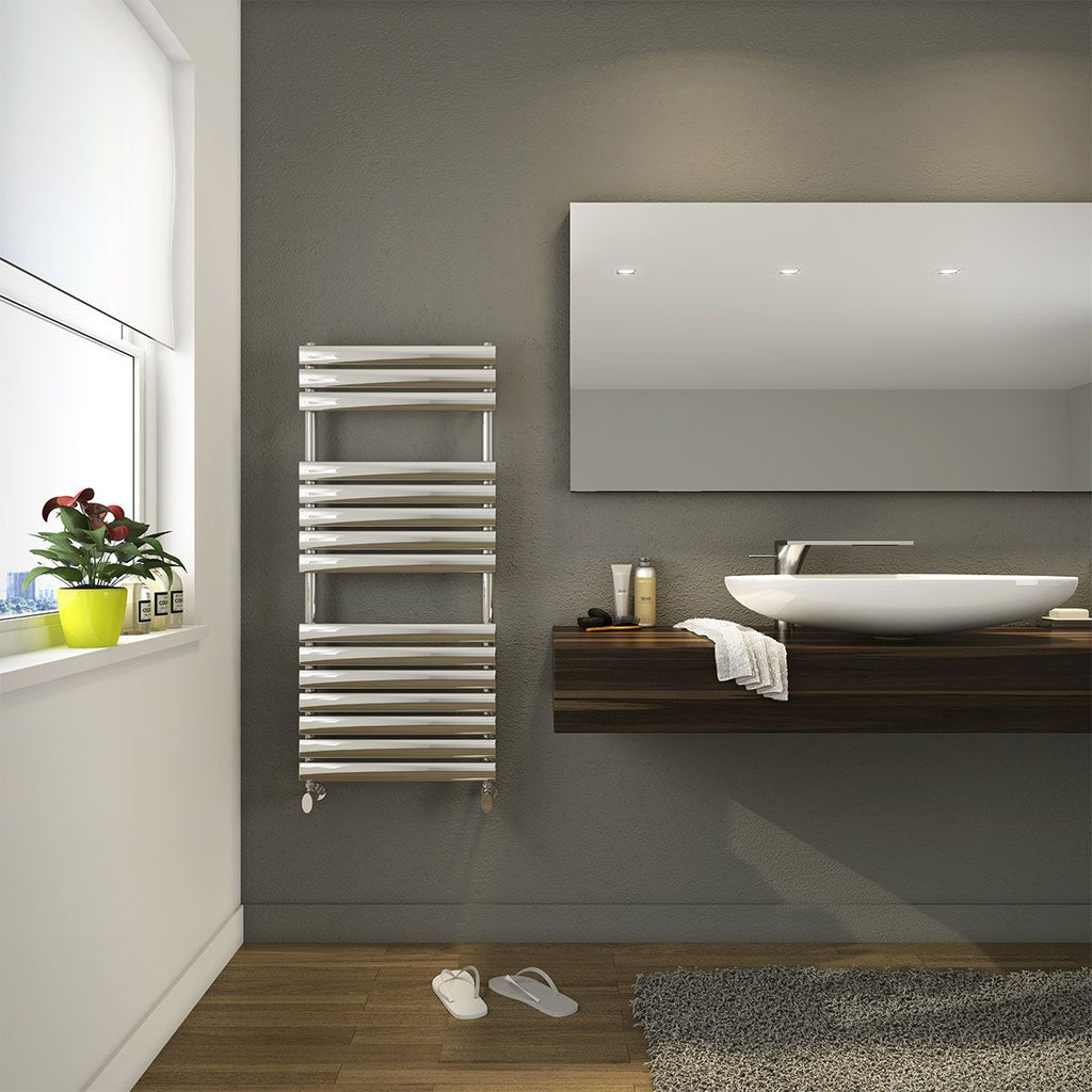 DQ Cove Polished Stainless Steel Towel Radiator