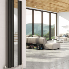 DQ Cove Anthracite Vertical Mirror Radiator