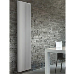 DQ Cube Single White Vertical Radiator