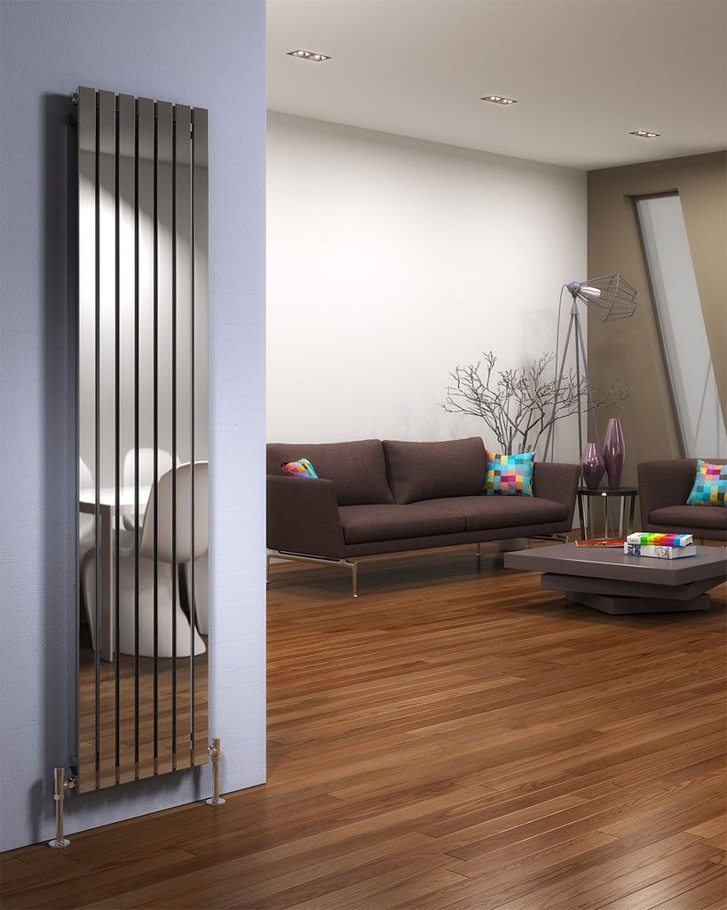 DQ Delta Polished Stainless Steel Vertical Radiator