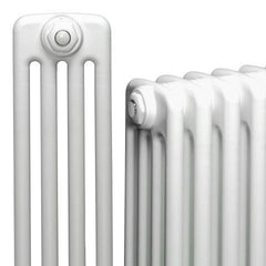 DQ Peta 4 Column White Horizontal Radiator