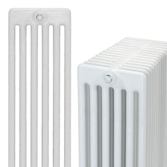 DQ Peta 6 Column White Horizontal Radiator