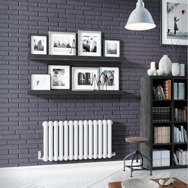 DQ Cassius Column White Horizontal Radiator
