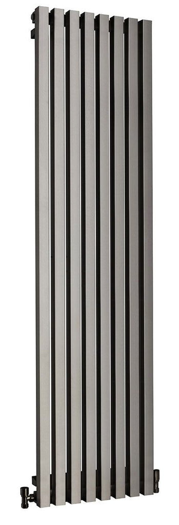 DQ Dune Brushed Stainless Steel Vertical Radiator