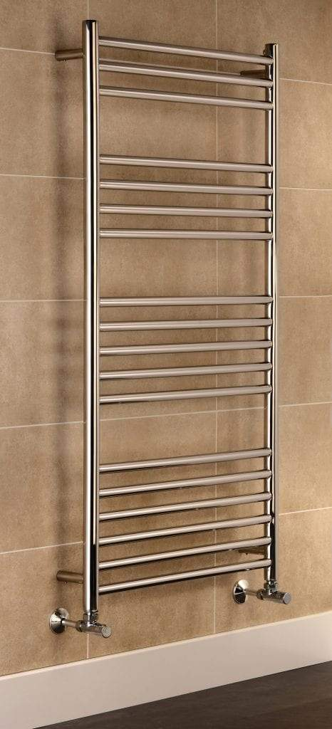 Eversley Polished Stainless Steel Designer Towel Rail Radiator