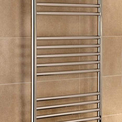 Towelrads Eversley Polished Stainless Steel Designer Towel Rail Radiator