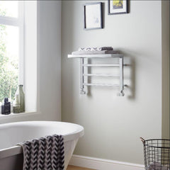 HeatQuick Spindle Shelf Designer Towel Rail | Designer Bathroom Radiator