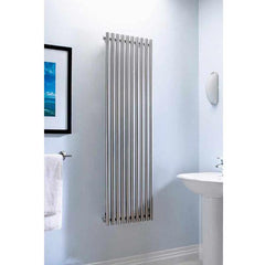 Accuro Korle Impulse Designer Radiator in Brushed stainless steel Stylish Modern Contemporary Design