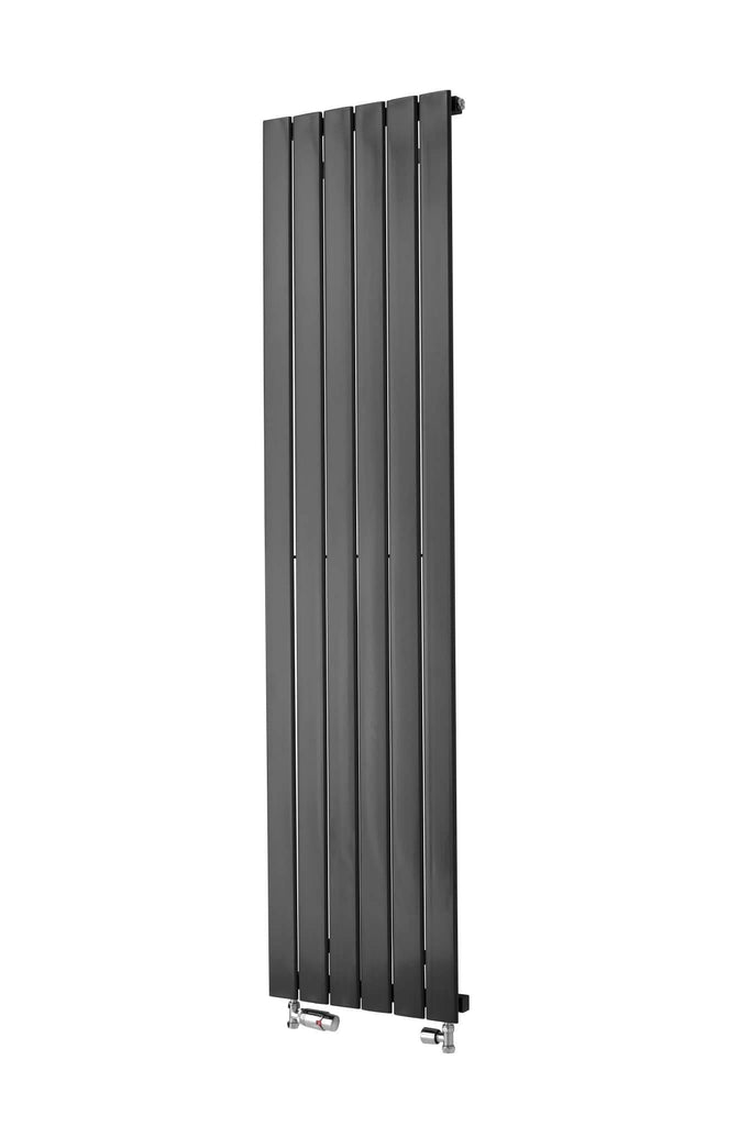Merlo Anthracite Vertical Designer Radiator Space Saving