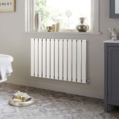 Towelrads Merlo White Designer Horizontal Radiator  | Single Panel Radiator