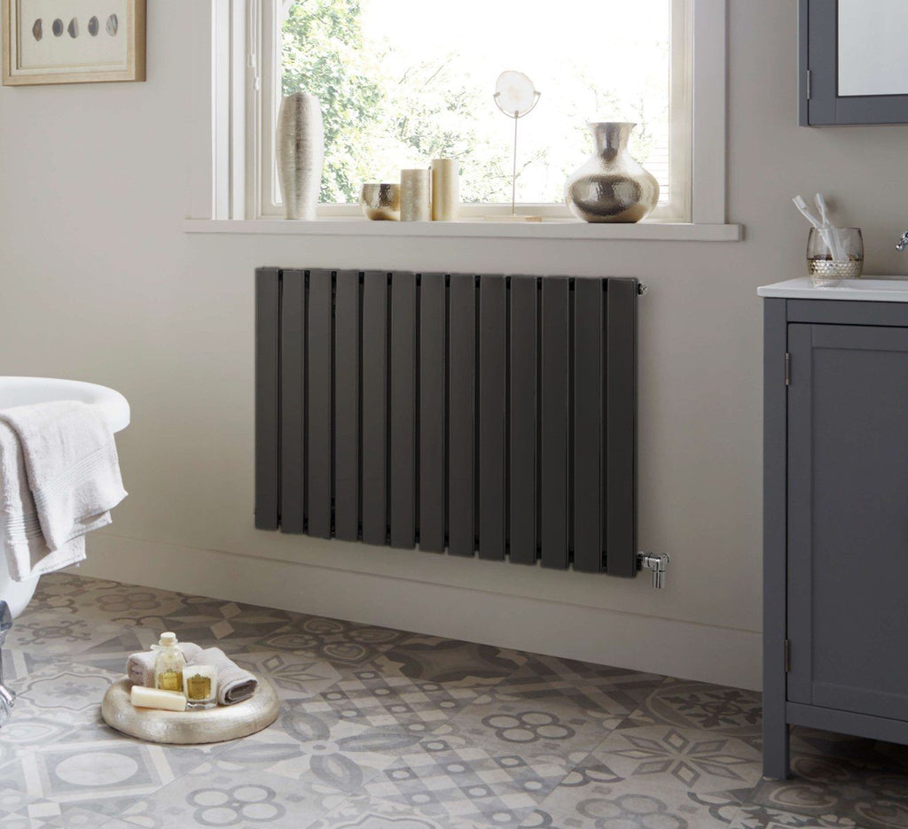 Merlo Anthracite Designer Horizontal Radiator | Single Panel Radiator