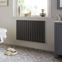 HeatQuick Spruce Anthracite Designer Horizontal Radiator | Single Panel Radiator