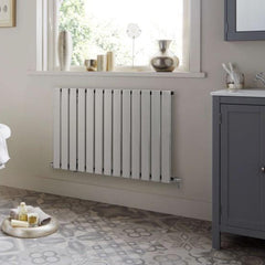 HeatQuick Spruce Chrome Designer Horizontal Radiator | Single Panel Radiator