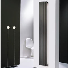Merlo Anthracite Vertical Designer Radiator | Space Saving Radiator