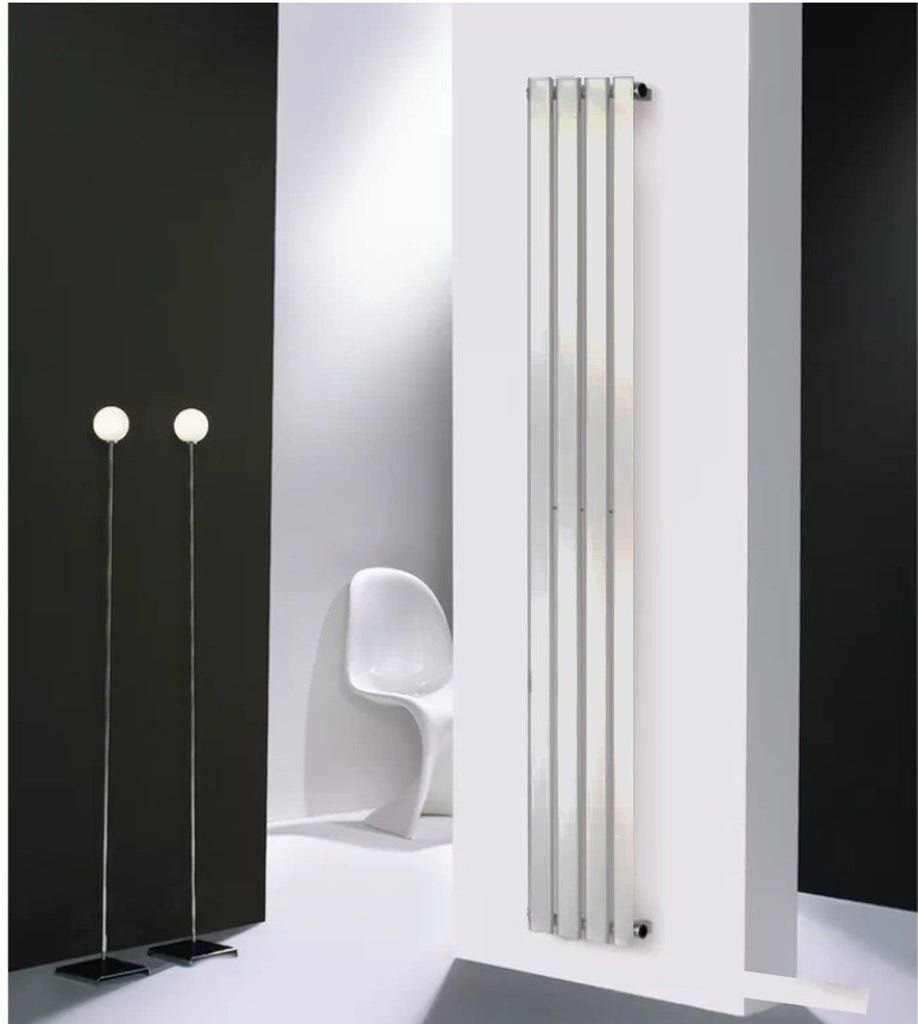 HeatQuick Spruce Chrome Vertical Designer Radiator | Space Saving Radiator
