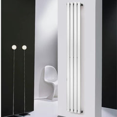 Towelrads Merlo White Vertical Designer Radiator | Space Saving Radiator