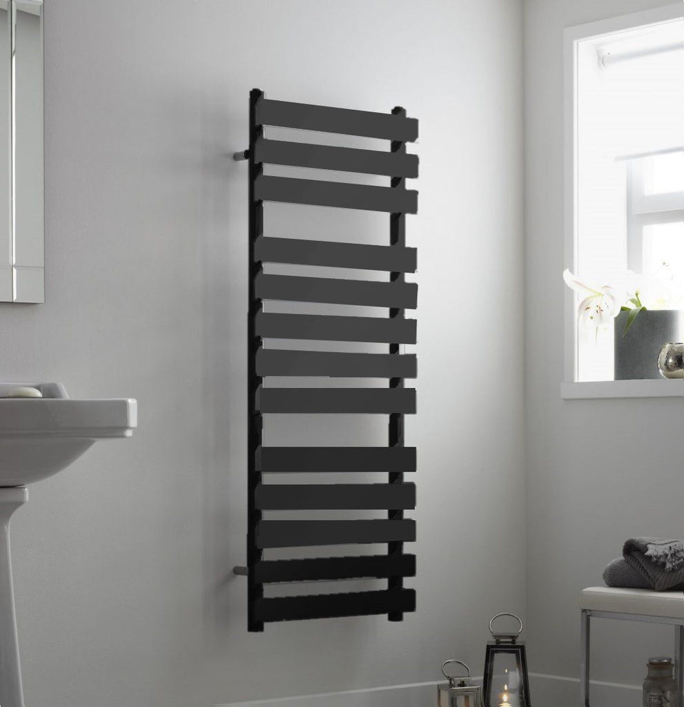 HeatQuick Alder Anthracite Designer Towel Rail | Ladder Style Bathroom Radiator
