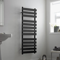 Perlo Anthracite Designer Towel Rail | Ladder Style Bathroom Radiator