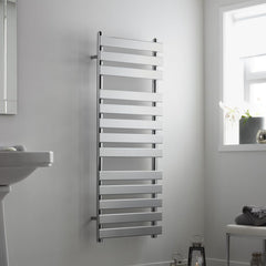 HeatQuick Alder Chrome Designer Towel Rail | Ladder Style Bathroom Radiator