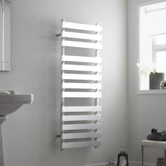 Towelrads Perlo White Designer Towel Rail | Ladder Style Bathroom Radiator