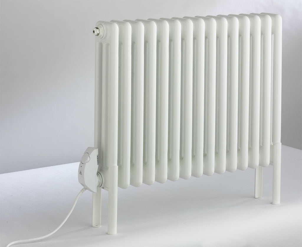 DQ Peta 3 Column White Electric Radiator