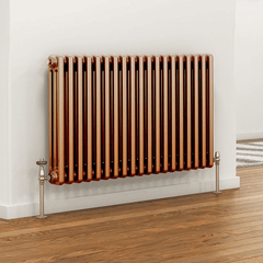 DQ Peta 3 Column Copper Horizontal Radiator
