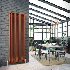 DQ Peta 3 Column Copper Vertical Radiator