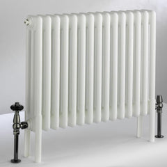 DQ Peta 3 Column White Horizontal Radiator