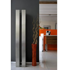 Accuro Korle Quattro Stainless Steel Designer Tower Radiator Free standing sculpture high heat output efficient stylish contemporary modern design