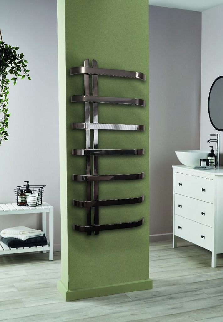 DQ Rebo Stainless Steel Black Nickel Towel Radiator